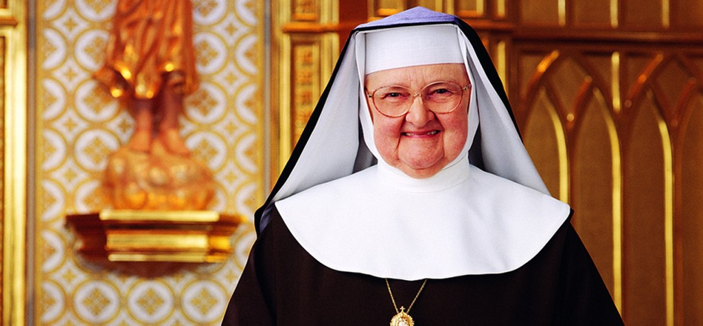 """Mother Angelica is seen in this undated photo. In an early morning tweet Feb. 22, the Eternal Word Television Network said its founder,92, remains in a """"delicate"""" condition. Mother Angelica died on Easter Sunday, March 27, 2016. (CNS photo/courtesy EWTN) See EWTN-MOTHER-ANGELICA-CONDITION Feb. 22, 2016."""