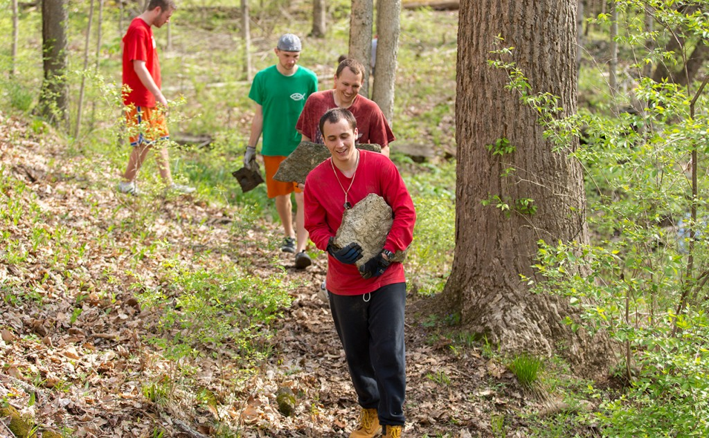 The Mount St. Mary's Seminary Father and Son Day of Service will be April 9. (Courtesy Photo/Susan Declercq)