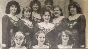 A group photo of McGing Irish Dancers is seen from a March 1988 edition of The Catholic Telegraph. (CT File)