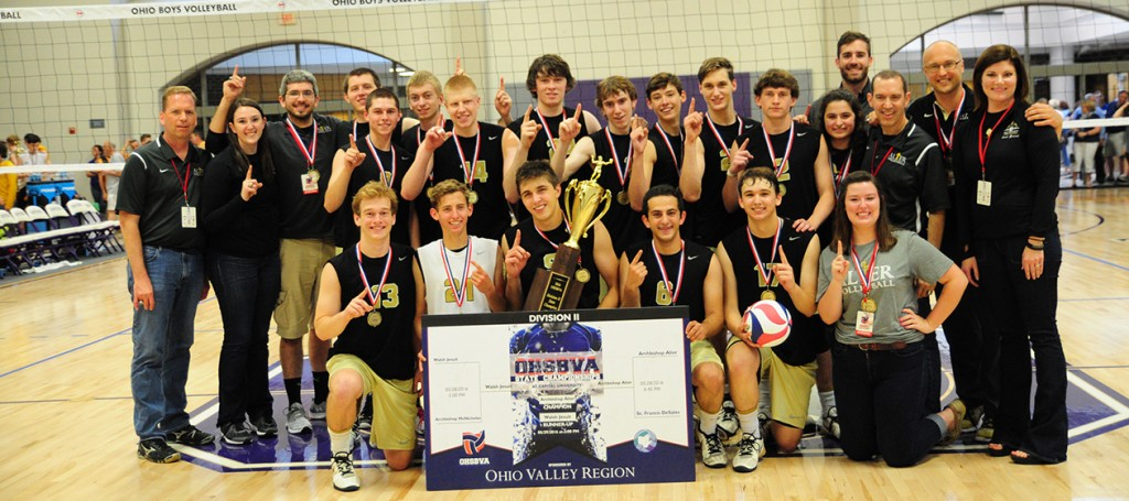 Alter boys volleyball won a third-straight state championship this May. (Courtesy Photo/Alter High School)