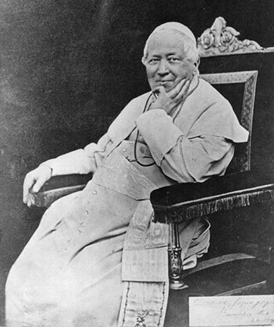 Pope Pius IX. (Public Domain, Library of Congress)