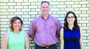 Pictured from left are NET staff members Lauryn Coules, Mark Hollcraft, and Catherine Lopez. (Courtesy Photo)