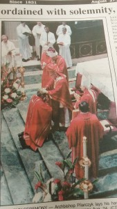 Bishop Moeddel is ordained auxiliary bishop August 1993