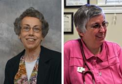 Sister Margaret Held, 68, a member of the School Sisters of St. Francis in Milwaukee, and Sister Paula Merrill, 68, a member of the Sisters of Charity of Nazareth in Kentucky, are pictured in undated photos. The two women religious were found stabbed to death Aug. 25 in their Durant, Mississippi, home, police said. (CNS photo/School Sisters of St. Francis and Sisters of Charity of Nazareth)