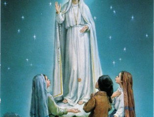 An artist's depiction of Our Lady of Fatima appearing to the three children in 1917. (Courtesy Photo)