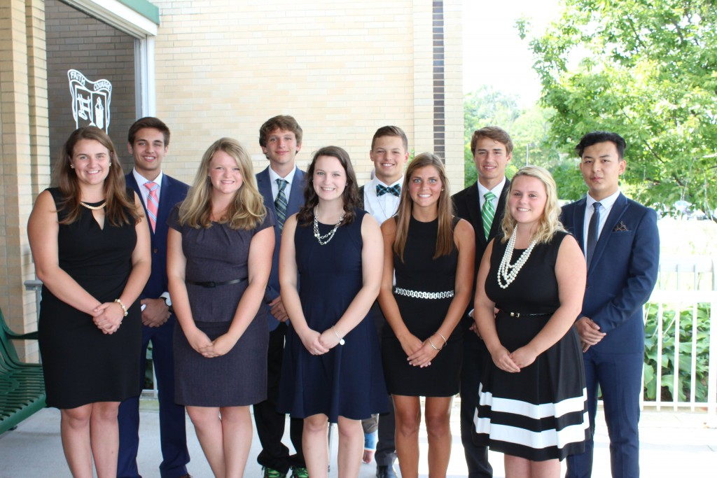 The 2016 Badin High School Homecoming court includes, front row from left, queen candidates Sarah Schuster, Libby Crank, Danielle Pate, Ali Stang and Katie Brown; at rear, from left, are king candidates Dominic Scalf, Patrick Johnson, A.J. Ernst, Josh Wolpert and Ankaier Hairela. (Courtesy Photo)