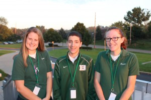 From left are seniors Kaitlyn Dick, Aaron Helson and Alexandra Hensley. (Courtesy Photo)