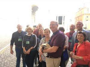 Companions of St. James arrive at the Vatican and show their credentials. (Courtesy Photo)