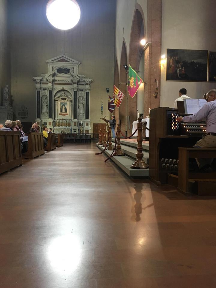 Mass in St. Dominic Siena Italy (Courtesy Photo)