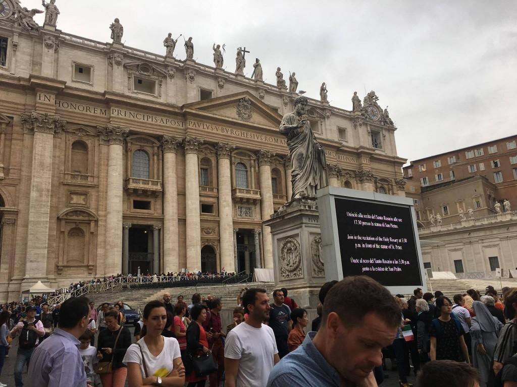 Pilgrims await the Scavi Tour at the Vatican. (Courtesy Photo)