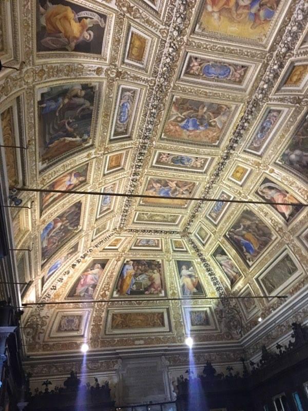 Beautiful Ceiling during pilgrimage (Courtesy Photo)
