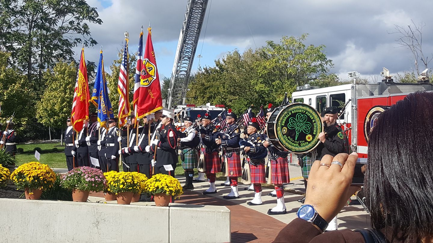 Honoring fallen Firefighters at a Memorial October 13, 2016 (Courtesy Photo)