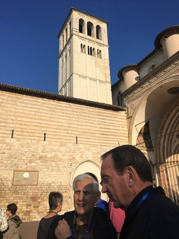 Archbishop Schnurr and Pilgrims in Assisi at the Basilica of St. Francis of Assisi (Courtesy Photo)