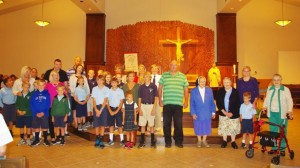 St. Columban celebrates 90 years with then and now community. (Courtesy Photo)