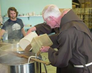 Fr. Frank adding sugar cmyk