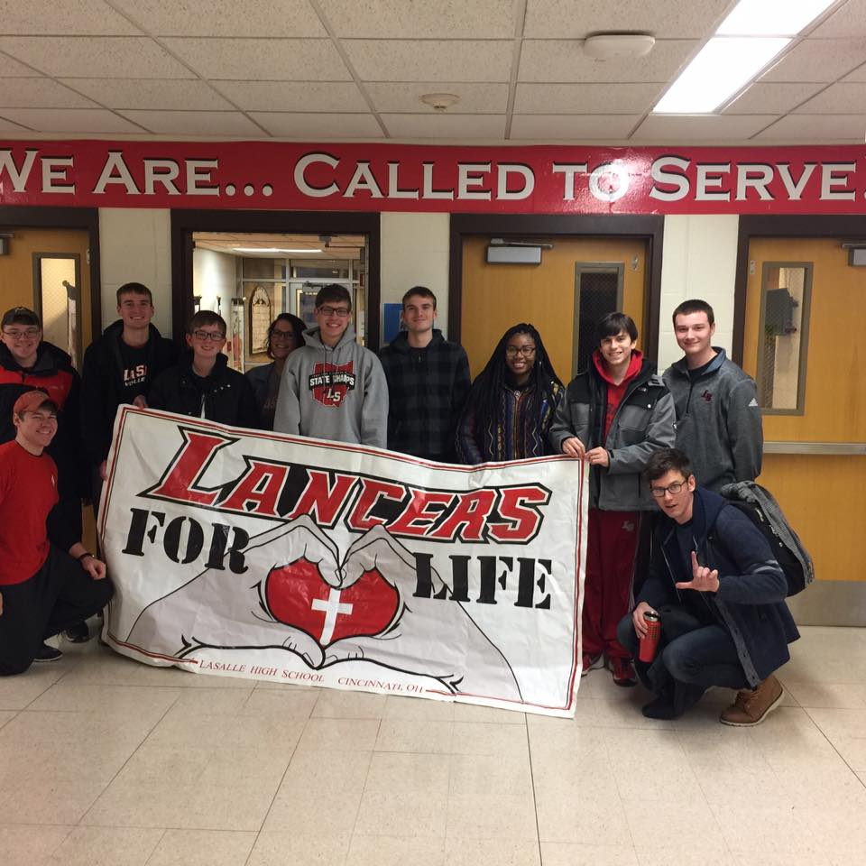 LaSalle High School students ready to travel to Washington DC for March. (Courtesy Photo)