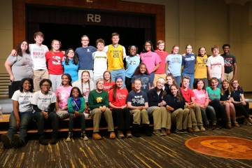 Roger Bacon Students wear colors of their grade schools. (Courtesy Photo)