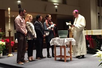The Lopez Family celebrating the Sacrament of Baptism. (Courtesy Photo)