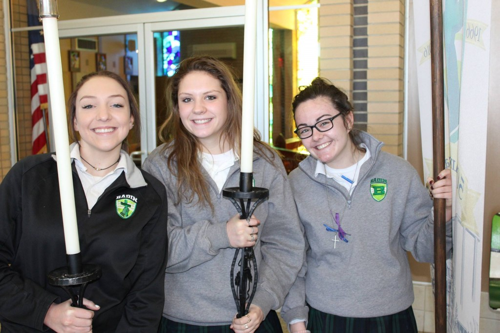 Students from Badin preparing for Mass. (Courtesy Photo)