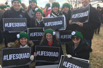 Seton High School's Life Squad March for Life in Washington DC (Courtesy Photo)