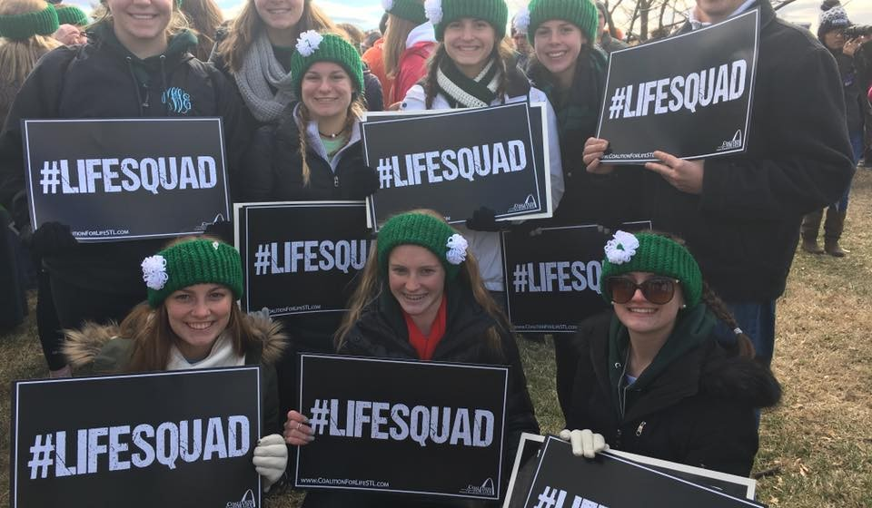 Seton High School's Life Squad March for Life in Washington DC (Courtesy Photo)