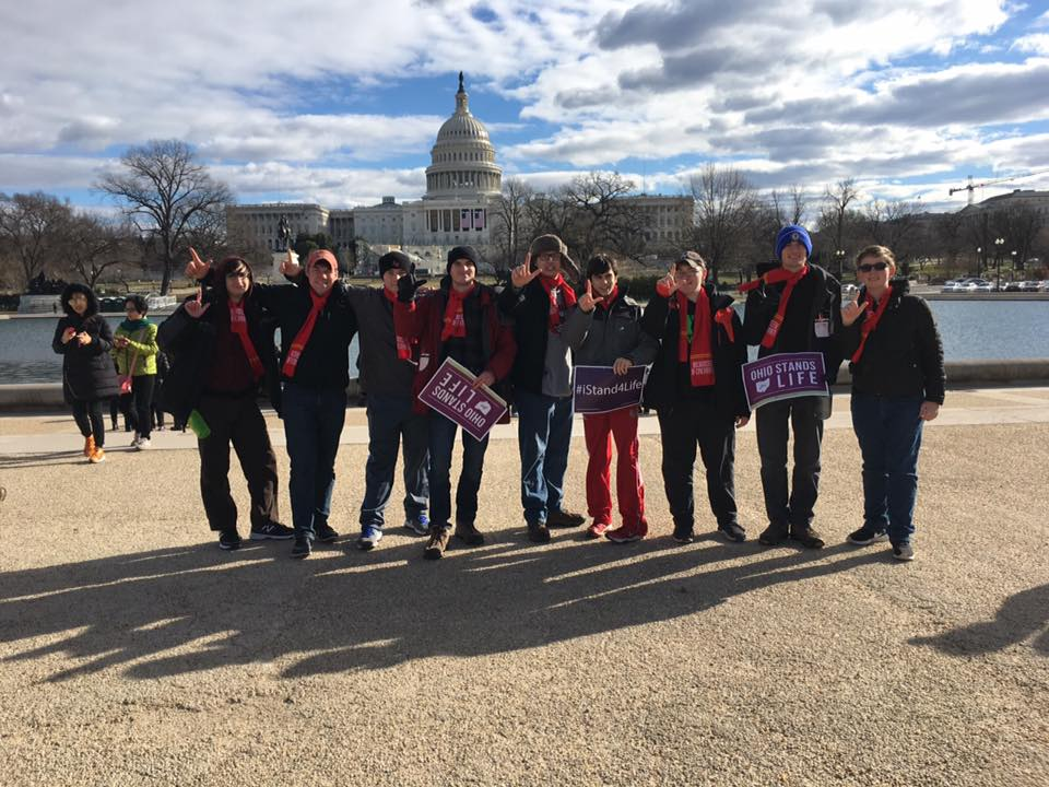 LaSalle students in Washington DC for the March for Life. (Courtesy Photo)