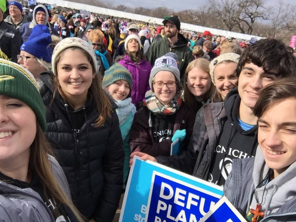 McNicholas Students participate in March for Life in Washington DC (Courtesy Photo)