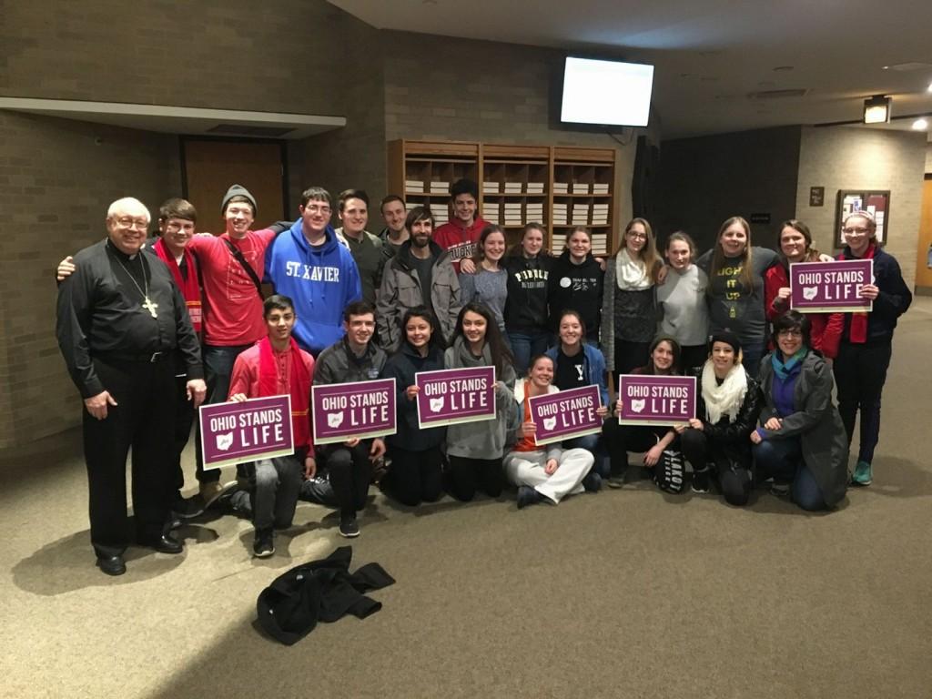 St. Maximilian Kolbe Youth Group prepares to leave for Washington. (Courtesy Photo)