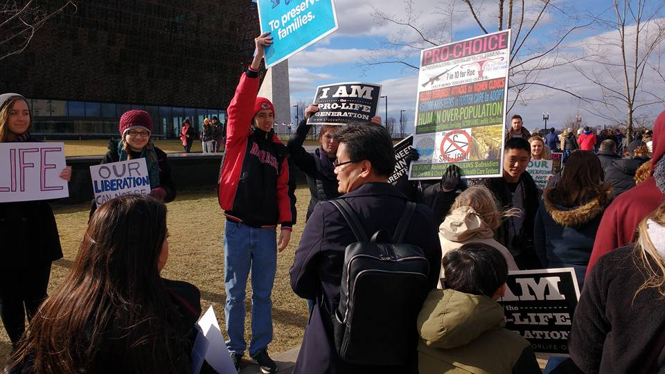 Gathering for the rally in Washington DC before March for Life. (Courtesy Photo)