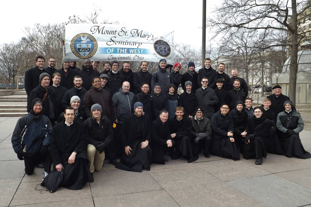 Seminarians from Mount Saint Mary's March for Life 2017. (Courtesy Photo)