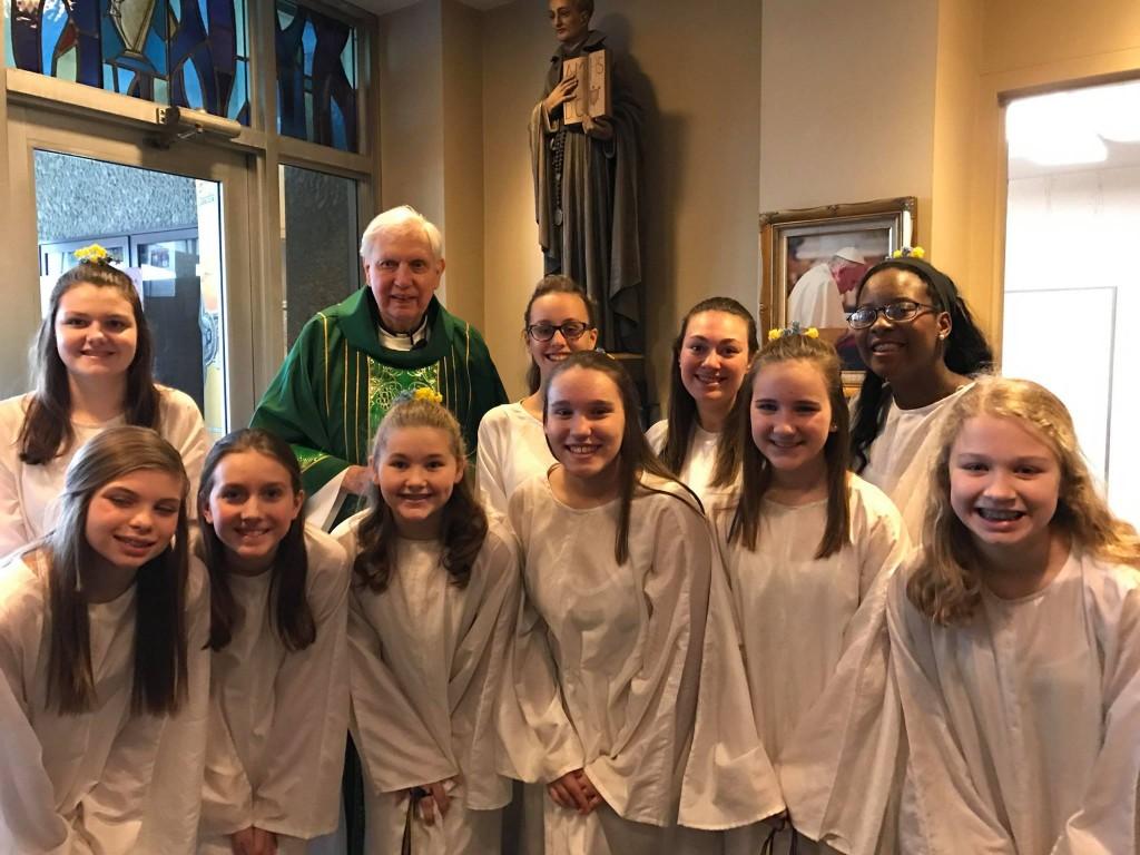 St. Ignatius students with Fr. Wall (Courtesy Photo)