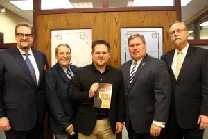 Dr. Hunter Bake; IRL Director Dr. Raymond Hebert; Joshua Charles, TMC President David Armstrong, JD; and Dr. JD Spences. (Courtesy Photo)