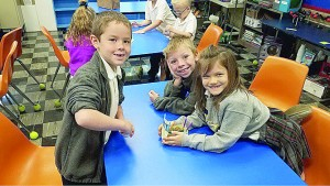 Students in the STEM room at Bishop Leibold School in Dayton. (Courtesy Photo)