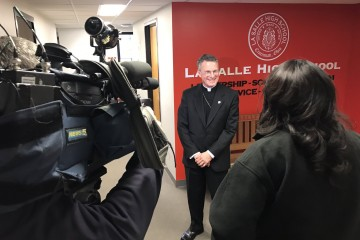 Media meets with Archbishop Broglio of the Military Archdiocese. (Courtesy Photo)