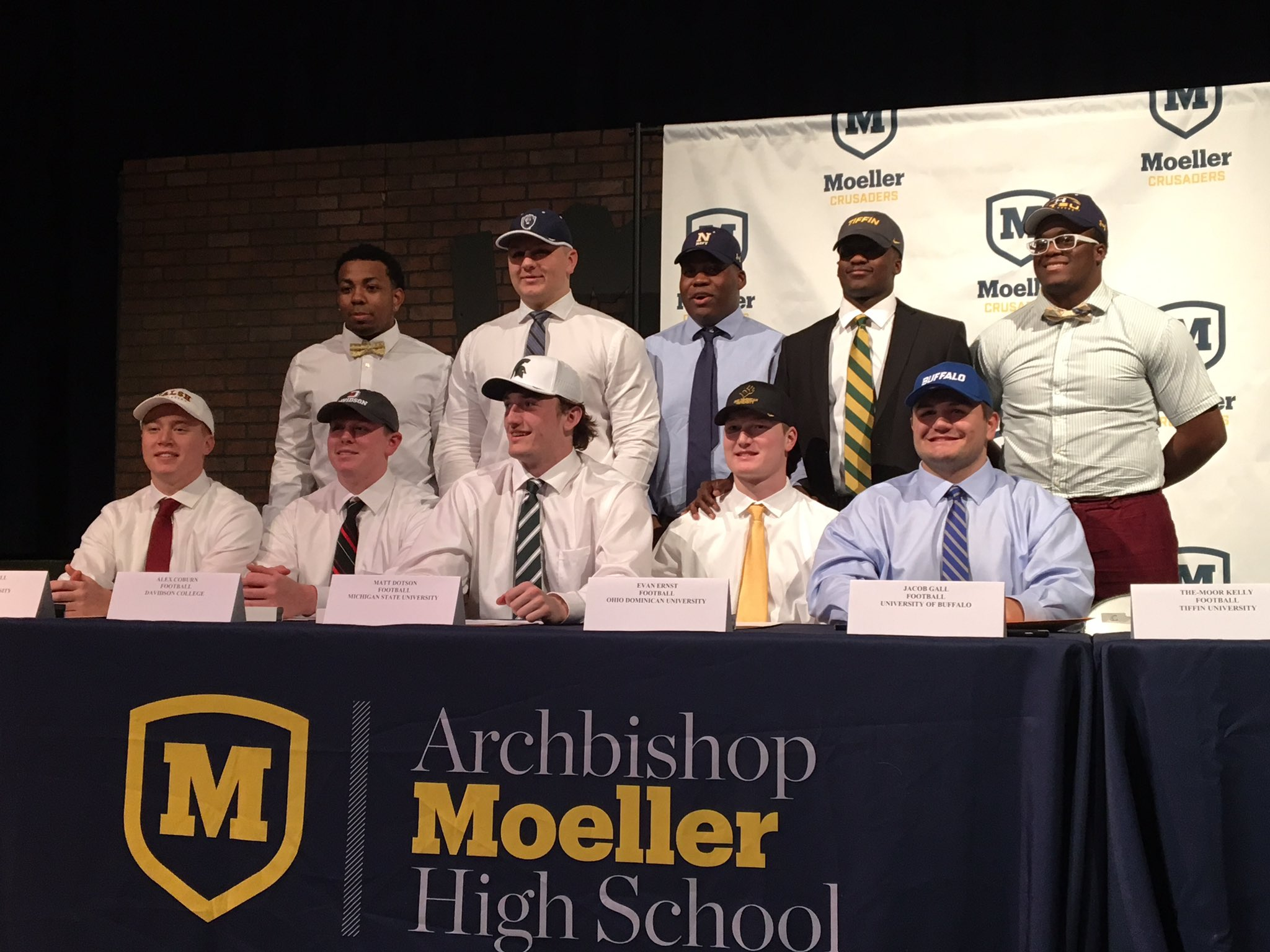Men of Moeller at Signing Day 2017