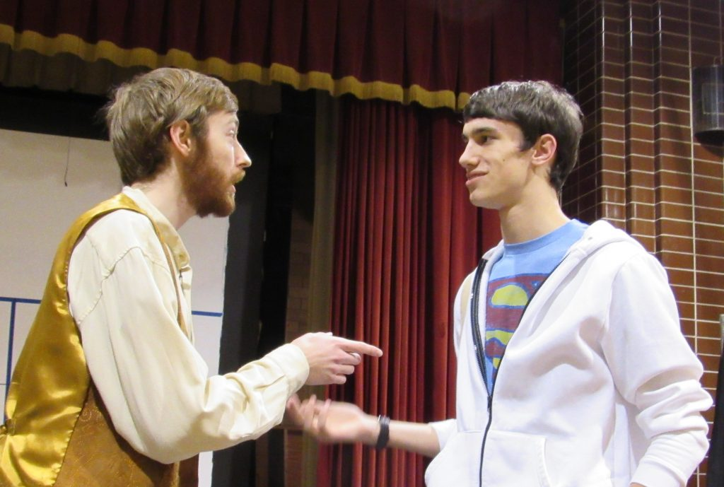 Will and Conor in the Lehman High School Production of Godspell (Courtesy Photo)