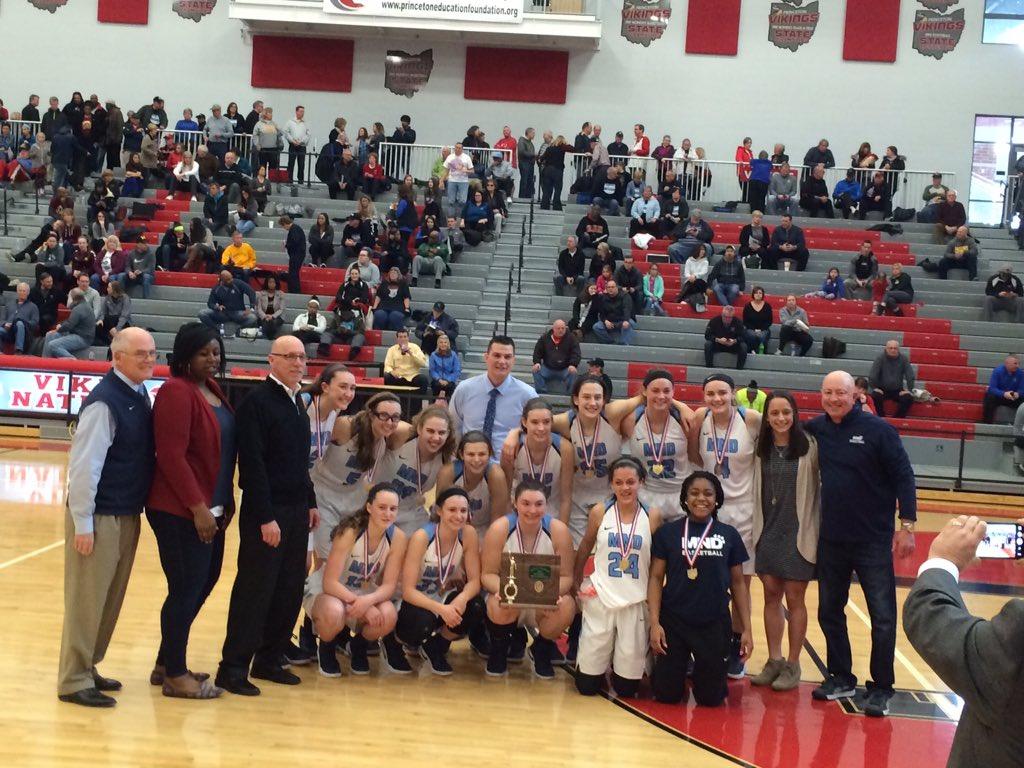 Mount Notre Dame District Women's Basketball Champions