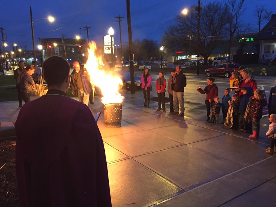 Pam Burning Ceremony on Ash Wednesday Eve at St. Cecilia in Oakley. (Courtesy Photo)