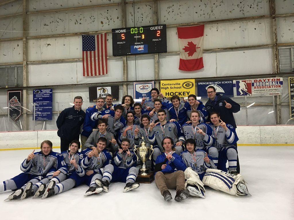 Xavier University Hockey Champions.