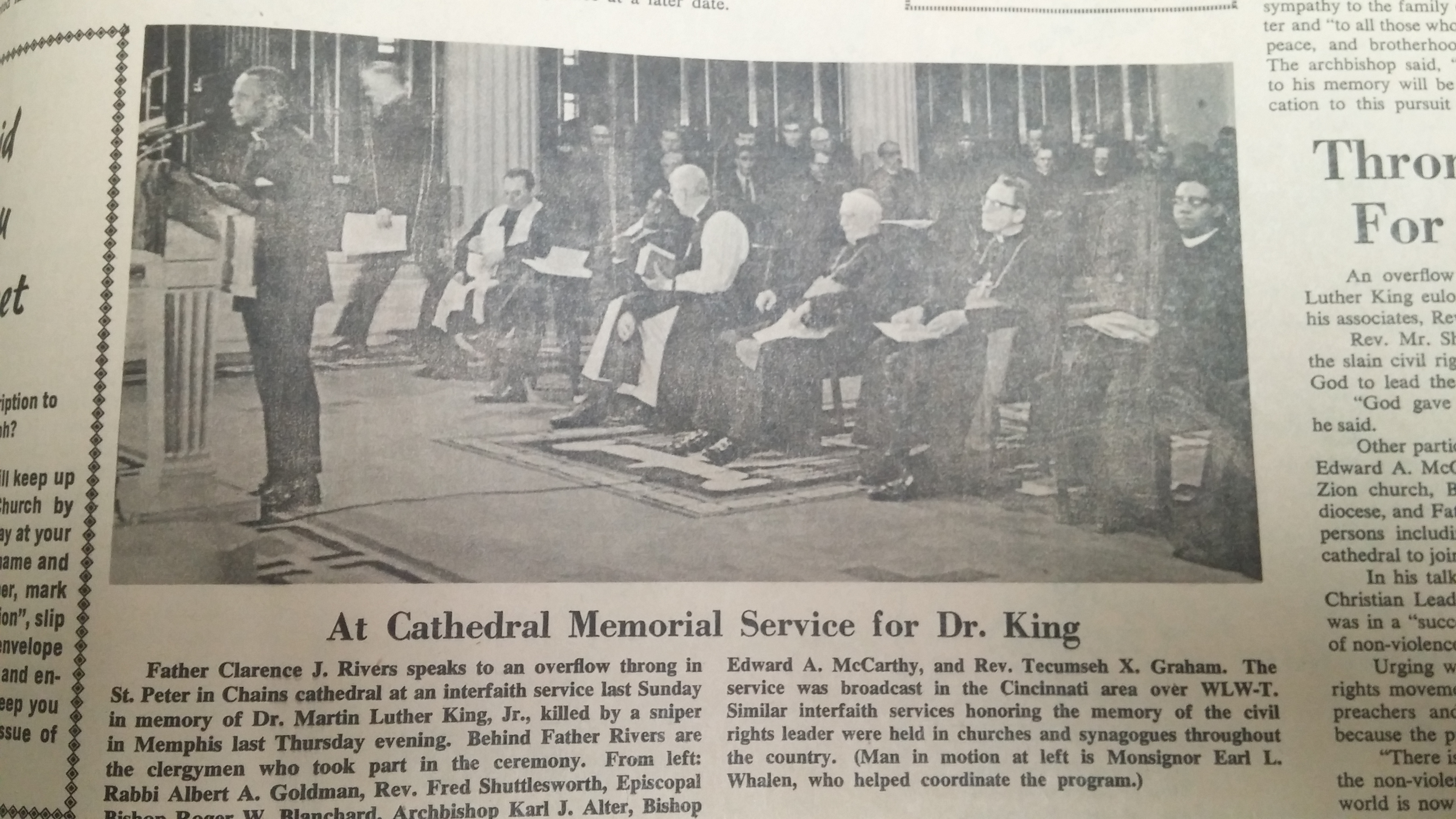 From The Catholic Telegraph April 1968