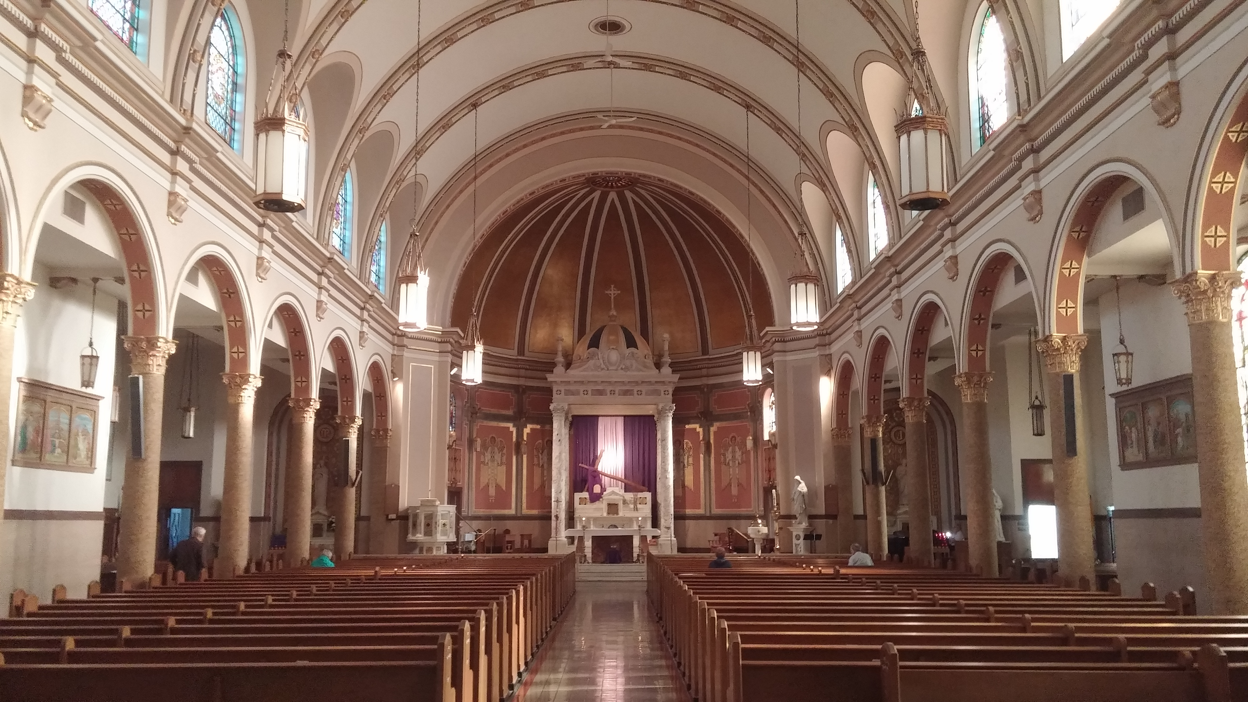 St. Boniface Cincinnati readies for Morning Prayer. (Greg Hartman/CT Photo)