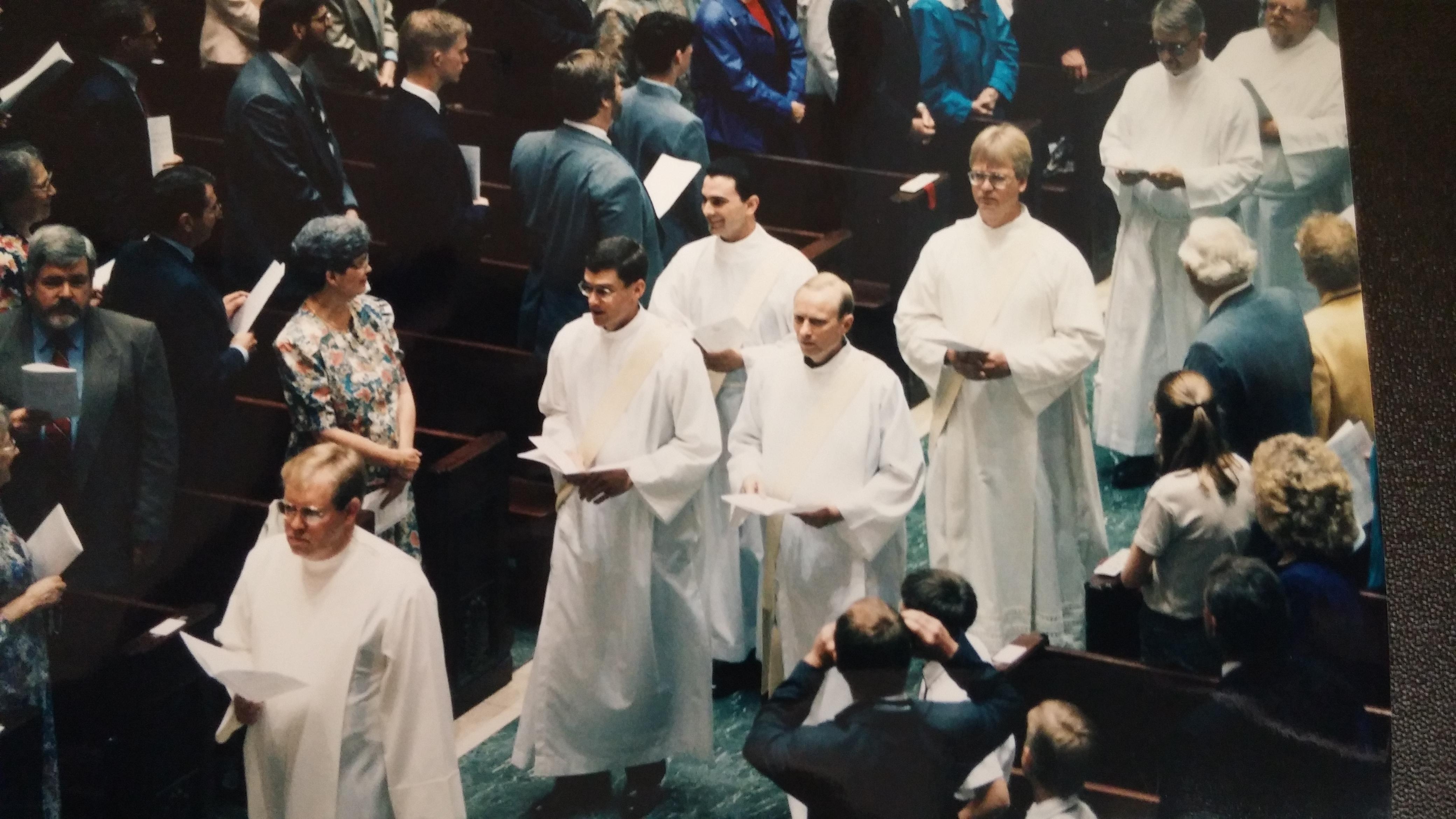 Deacons Piepmeyer, Sloneker, & Meyers prepare for Ordination