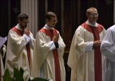 Recessional: Reverend David Doseck, Reverend Peter Langenkamp, and Reverend Alexander Witt. (CT Photo/Greg Hartman)