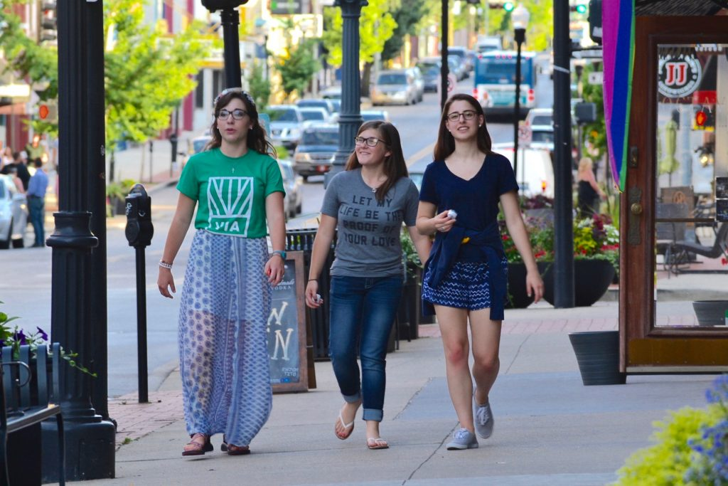 Being Missionary Disciples on Madison Ave in Covington Ky. (CT Photo/Greg Hartman)