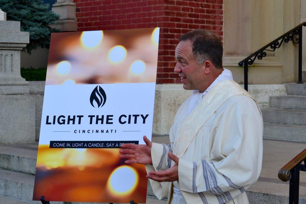 The night involved walking in city neighborhoods, an invitation to prayer, and an invitation inside the church. (CT Photo/Greg Hartman)