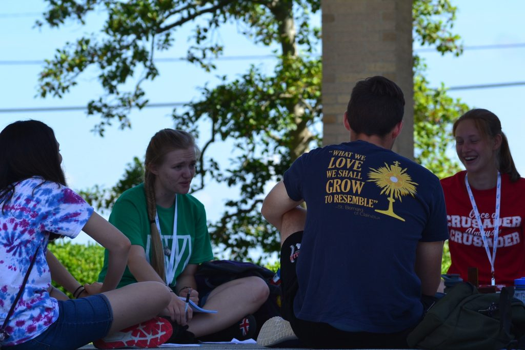Abide Participant T says it all! (CT Photo/Greg Hartman)