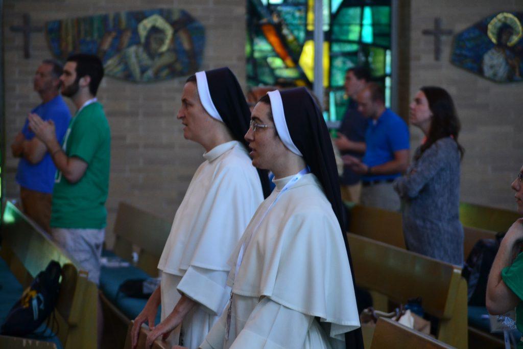 Part of team during Mass at Abide (CT Photo/Greg Hartman)