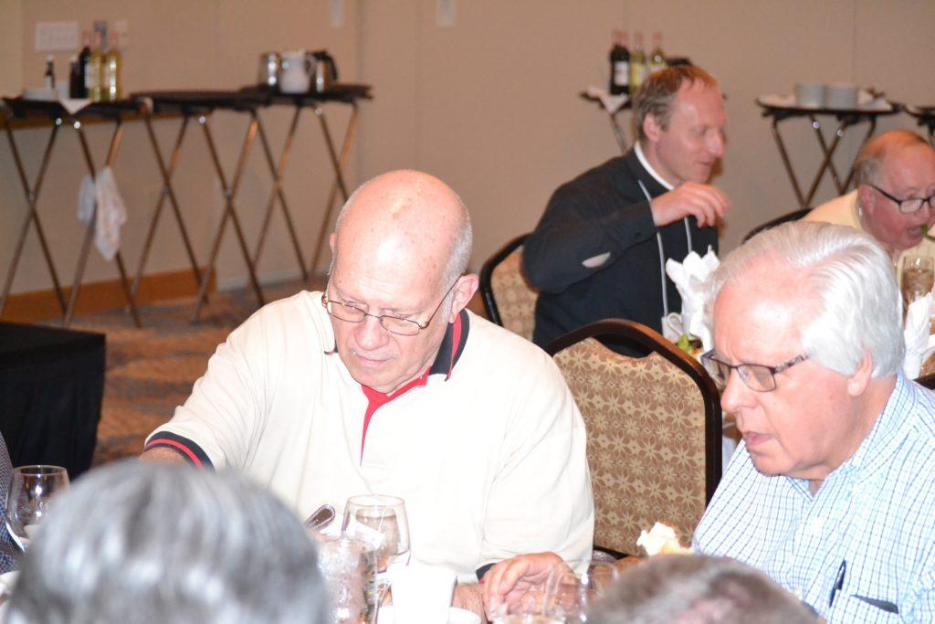 Rev. George Kunkel and Rev. Steven Walter at the 2017 anniversary dinner (CT Photo/Greg Hartman)