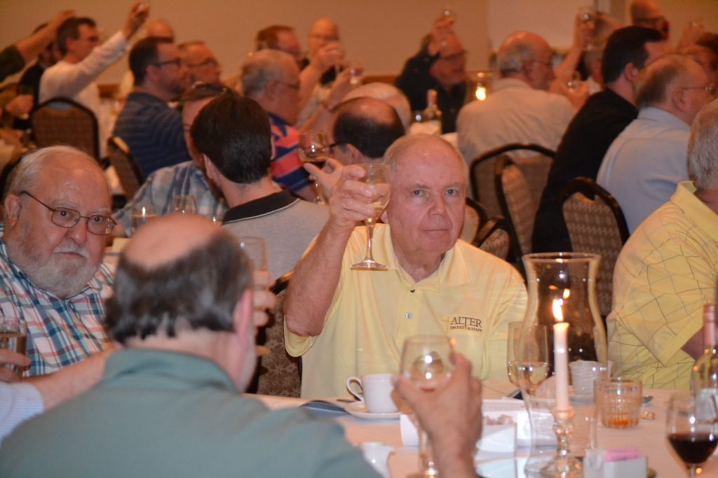 Raising a toast to the Archdiocese of Cincinnati honorees (CT Photo/Greg Hartman)