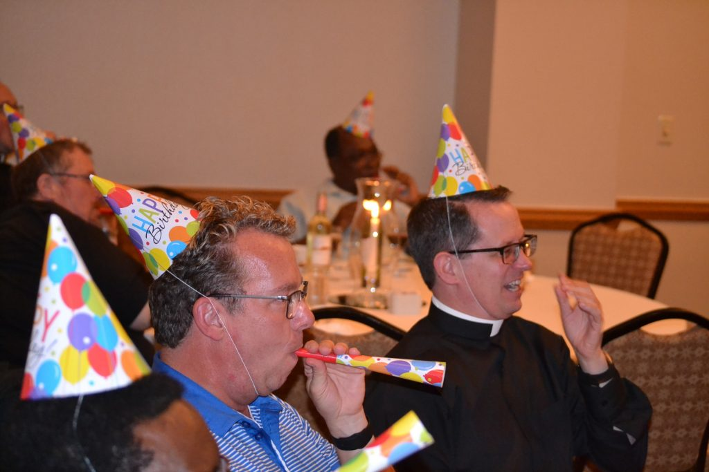 It also happened to be Archbishop Schnurr's birthday. (CT Photo/Greg Hartman)